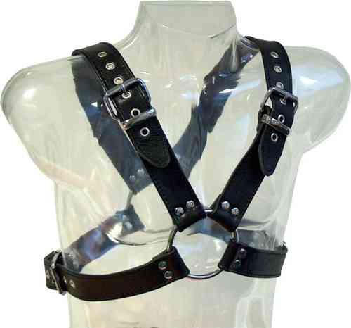 Leather The Bear Harness Top