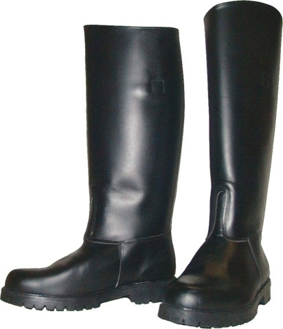 Leather Police Boots