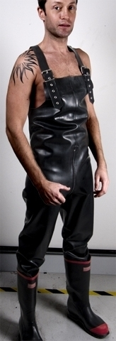 Rubber work overalls