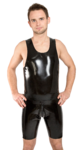 Latex Trägershirt Smokey Black