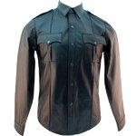 Leather Police Shirt Long Sleeves