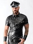 Mister B Sheep Leather Police Shirt Black